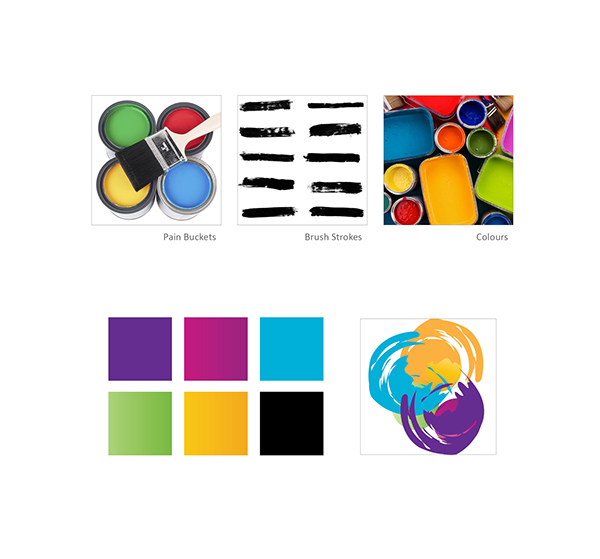 professional painting logo amp stationery on behance
