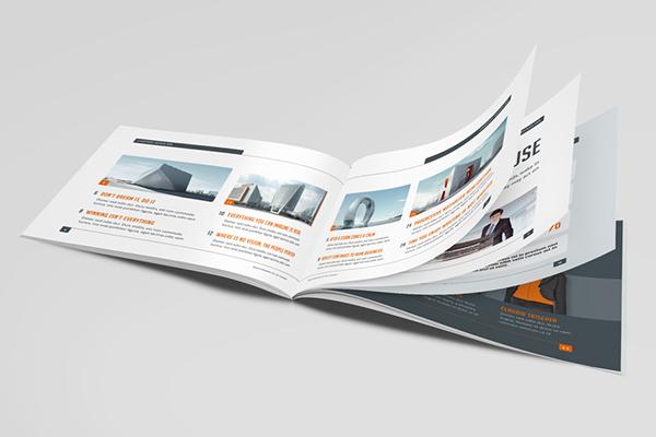 Business horizontal brochure on behance for Horizontal brochure design