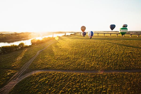 balloons Flights air balloons  landscapes