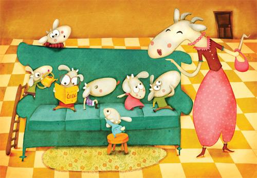 "Children's book ""los siete cabritillos"" on Behance"