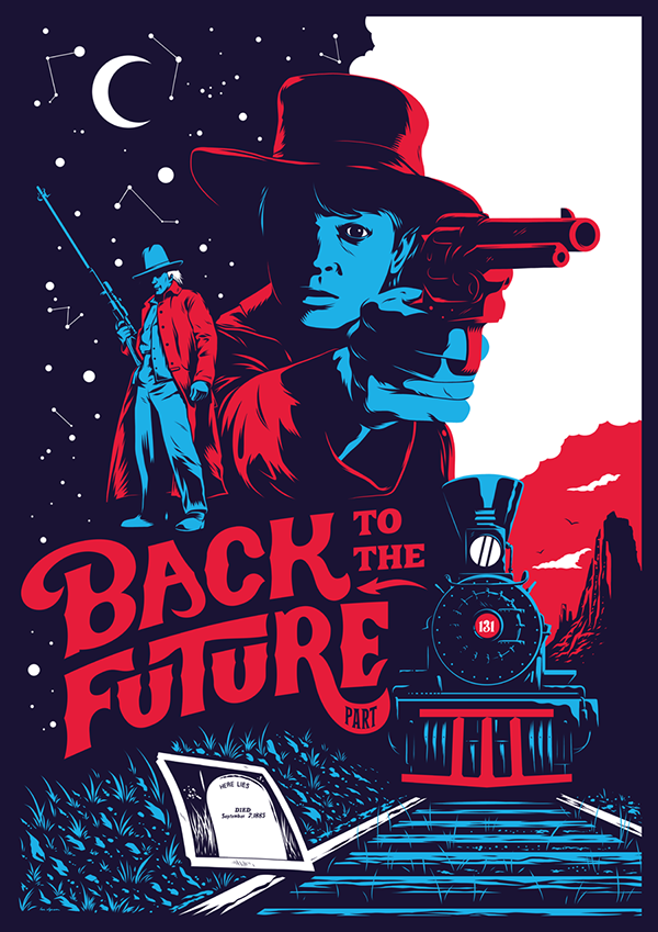 1.21 GIGAWATTS: Back to the Future III Poster on Wacom Gallery