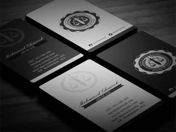 Creative Lawyer Business Card #4 On Behance