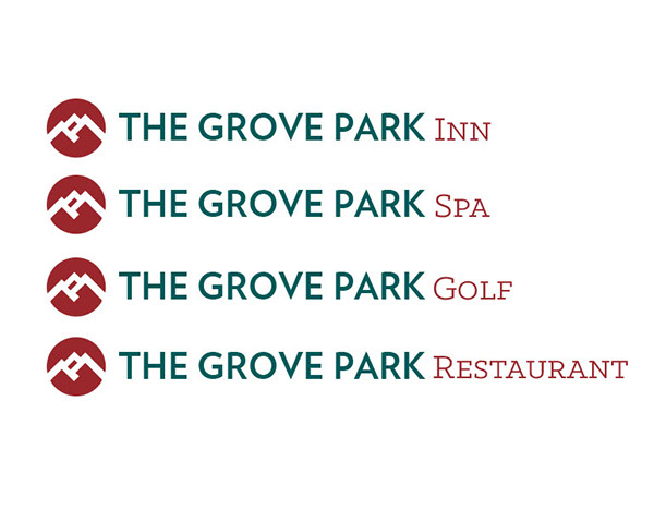 environmental graphics,way-finding system,north carolina,The Grove Park,Asheville,logo,Signage,brand,resort,hotel,Spa,golf course,mountains,Blue Ridge Parkway,Appalachian Mountains