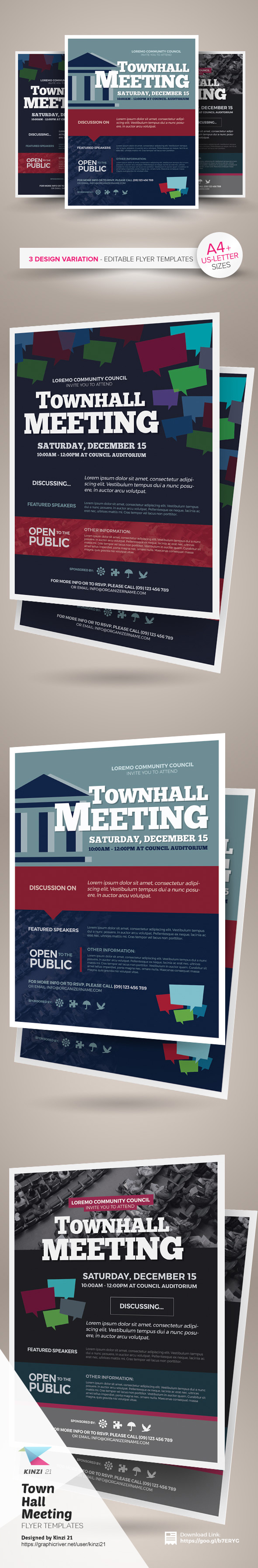 town hall meeting flyer templates on behance town hall meeting flyer templates are fully editable design templates created for on graphic river more info of the templates and how to get the