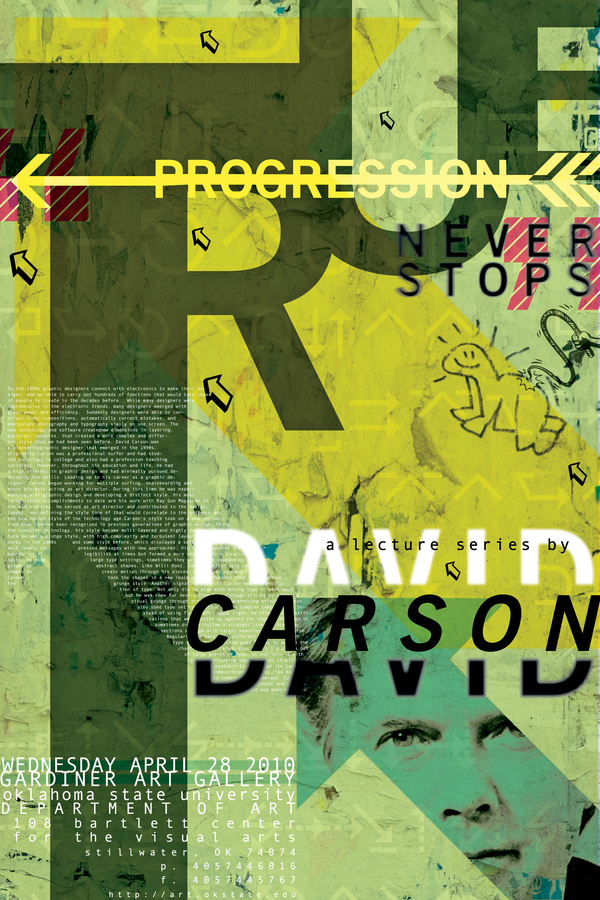 David Carson Lecture Series Poster on Behance