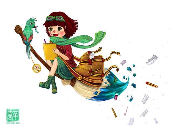 Character Design Spot : Spot illustration animators with no boundaries on scad