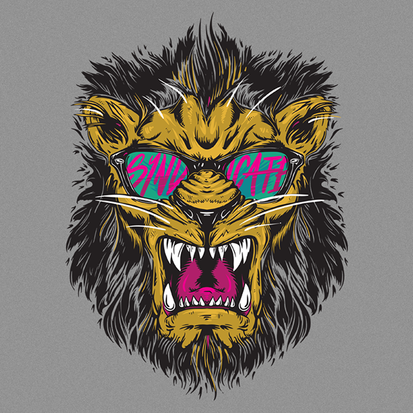 Illustration created for Tom, better known as Syndicate for his ...: www.behance.net/gallery/Syndicate-Riot-Lion-Tee-Art/11921099