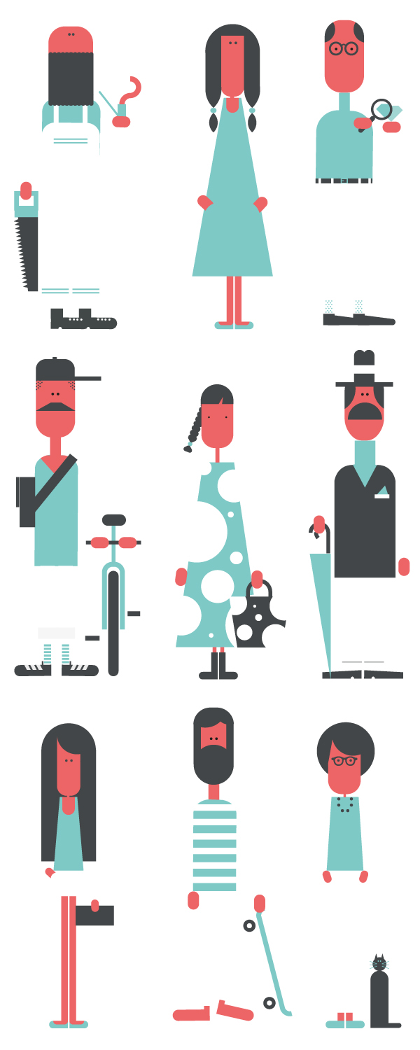 Shapes In Character Design : From character to type caos shape on behance