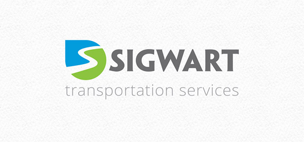 logo transportation blue green Business Cards print identity