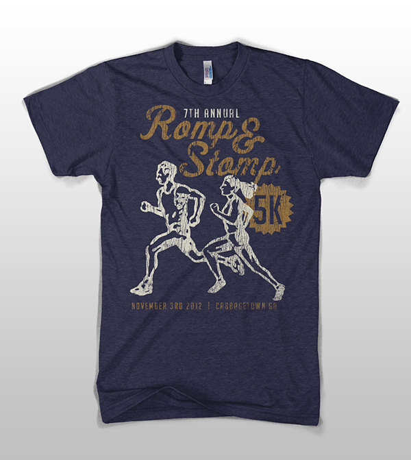 Romp Stomp 5k Run Tshirt Design On Behance