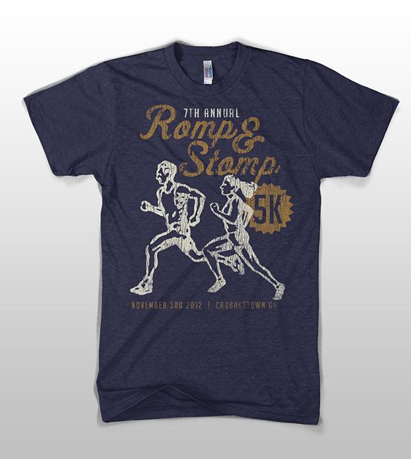 Romp Stomp 5k Run Tshirt Design On Behance