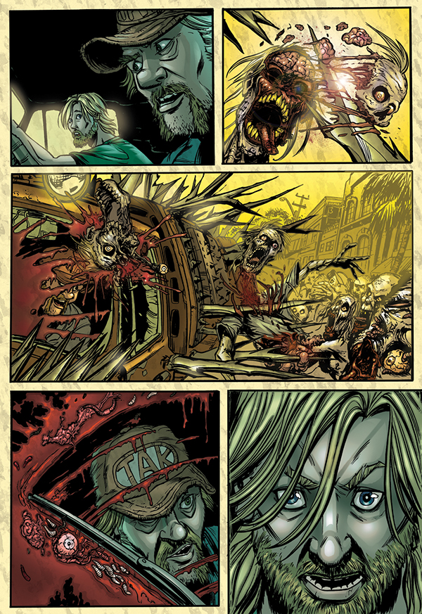 Day Of The Dead Comic Book Digital Color On Behance
