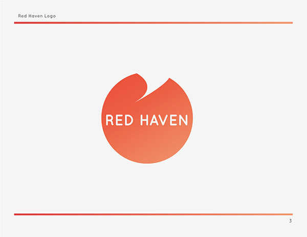 red haven identity on pantone canvas gallery. Black Bedroom Furniture Sets. Home Design Ideas