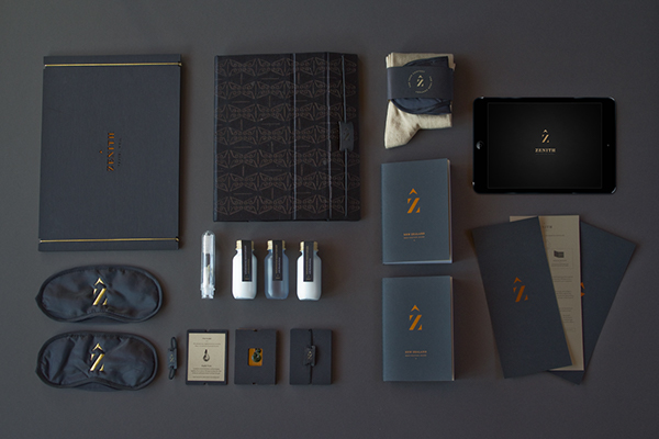zenith Travel luxury premium package laser New Zealand infographic e-magazine iPad first class amenity kit airline presentation