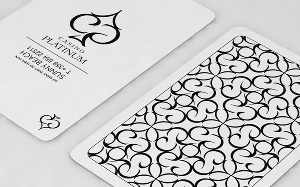 Casino platinum corporate identity slogan on behance the design of the business card is inspired by playing cards colourmoves Image collections