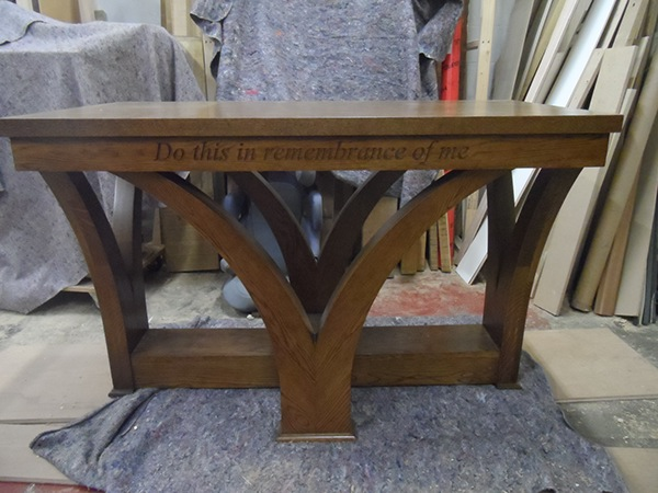 furniture woodwork church Joinery Carpentry table communion