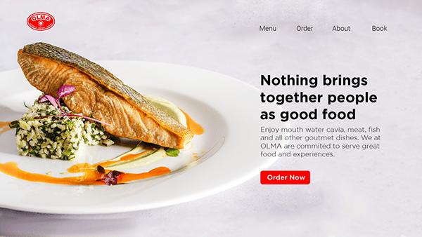 Gourmet Food Website