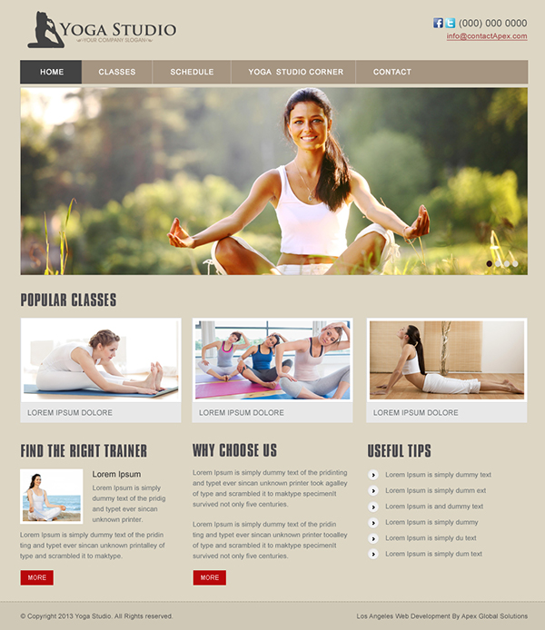 Yoga Studio Website Design on Behance