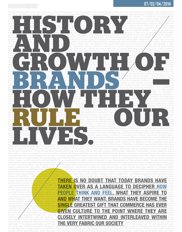 brief history of branding Branding creative  brief a about your organisation  b vision and objectives for your brand  provide any relevant history of the project and/or the.