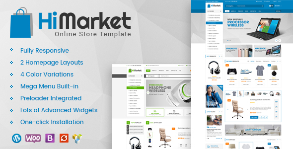 Himarket Super Clean Woocommerce Wordpress Theme On Behance