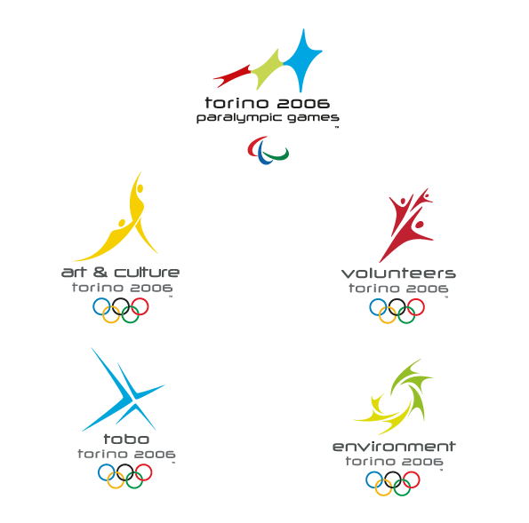 Corporate identity xx olympic winter games torino 2006 on for Logos space torino