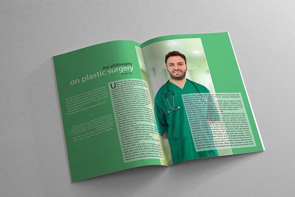 Magazine Templates For Pages Health And Medical Magazine Template On Behance