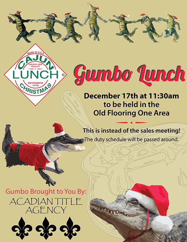 Cajun Christmas.Cajun Christmas Lunch Flyer On Behance