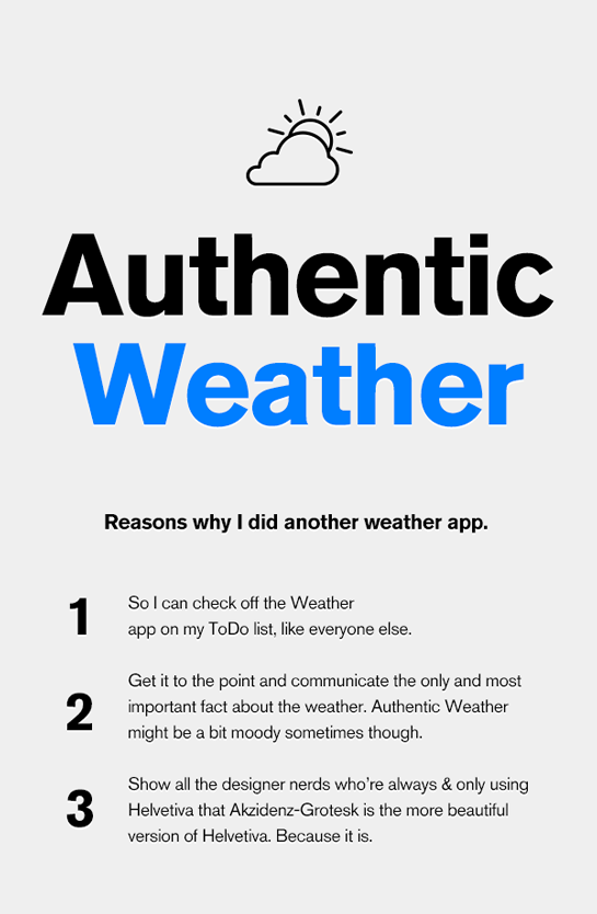 Authentic Weather on Behance