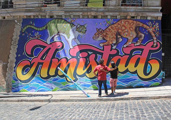 "Mural Tipográfico ""Amistad"" by Elliot Tupac Urcuhuaranga"