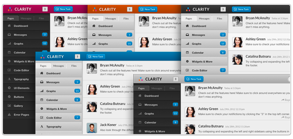 Clarity - A Responsive Web Application Template on Behance