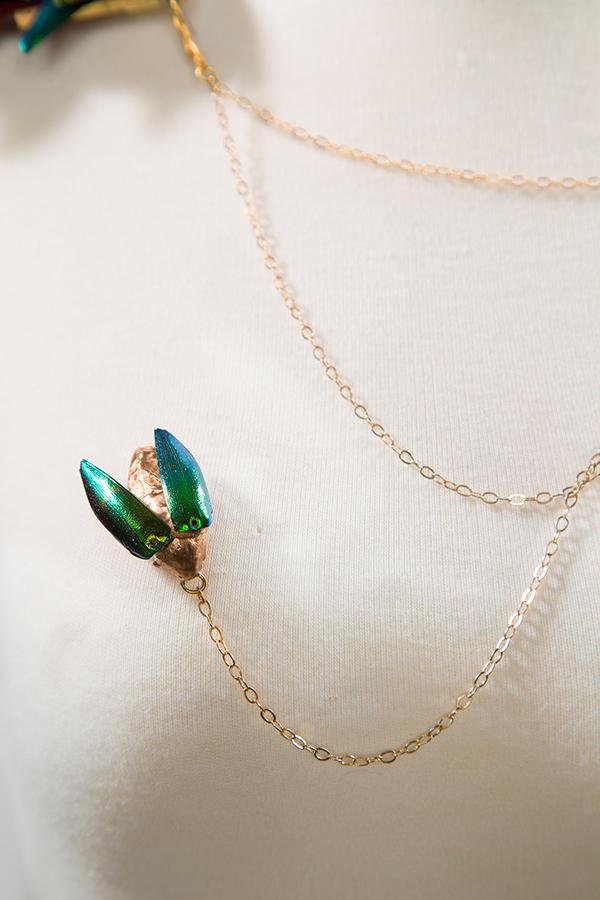 jewelry design gold beetle Necklace neckpiece bronze beetlewing coxa catiecurran bronzenecklace brass epaulette