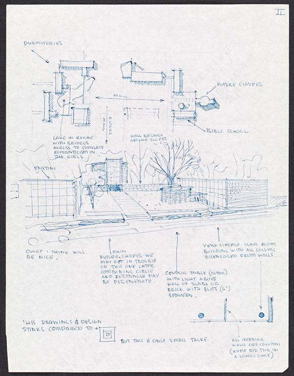Saarinen architect Comic Sans Comic Book blue print
