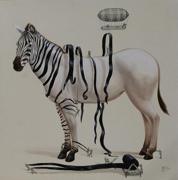 DRESSING THE ZEBRA by Ricardo Solis