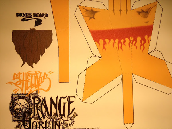 orange goblin  papertoy