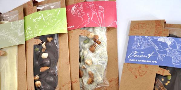 verpackung Tafelschokoladen Goldhelm Display & Logistikkonzept