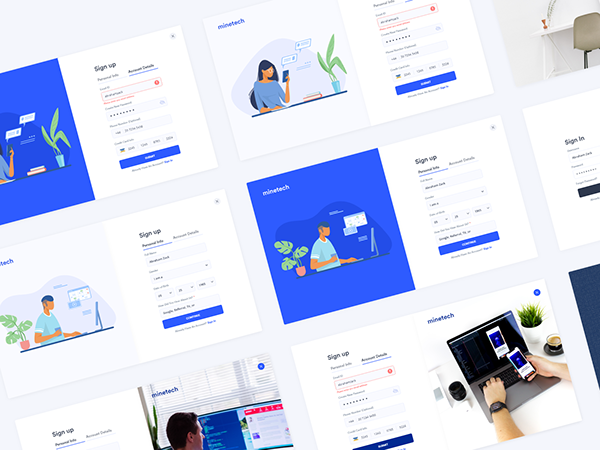 Free Sign Up Onboarding Kit (XD)