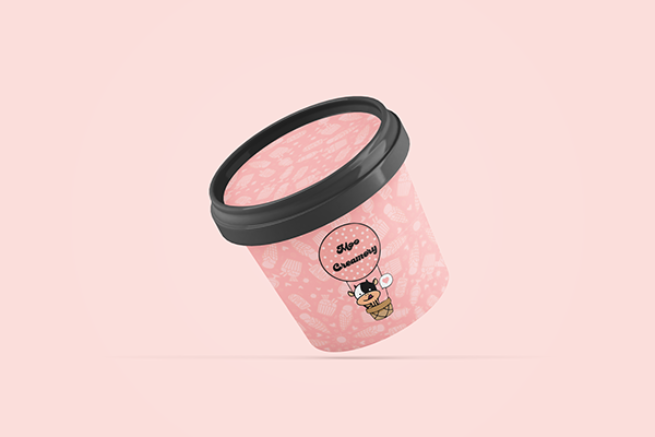 Moo Creamery: Mascot Logo and Packaging Mockup Concept