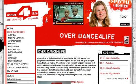 Website  dance4life