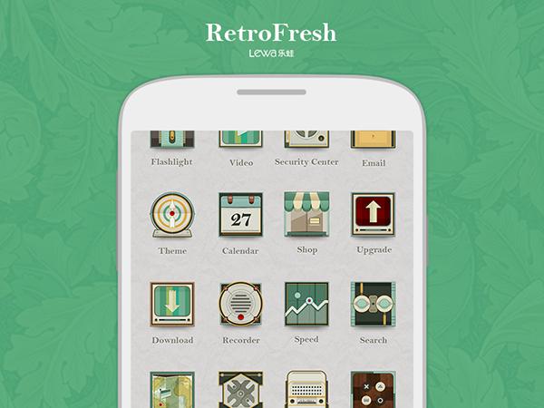Retro Fresh lewa theme design on Behance