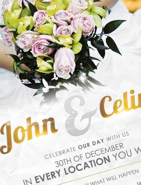 Wedding Flyer Template on Behance – Wedding Flyer