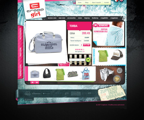 cropp,girl,Web,design,Cropp Girl,Website,Clothing, youth, Grunge , hipster
