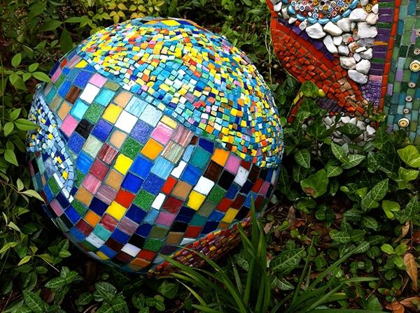 Garden Mosaics Mosaic Ball Mosaic Smalti Ball