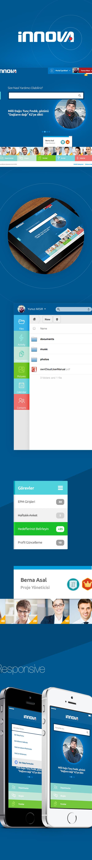 portal Sharepoint innova blue White Web UI ux search