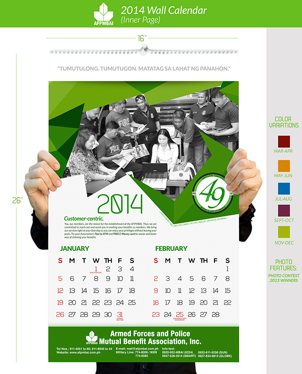 Calendar Ideas For Company : Wall calendar on behance