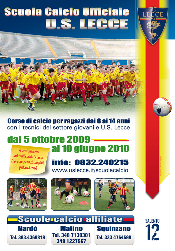 Scuola Calcio soccer school Football School U.S. Lecce college academy salento