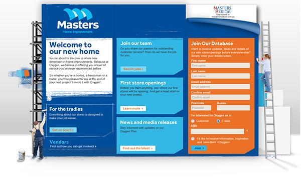 Masters Home Improvement Website Design