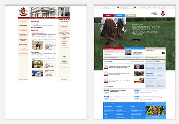 governmental Government lithuania big type clean corporate ux