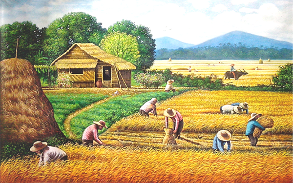 Painting Harvest Scenery Philippines Behance