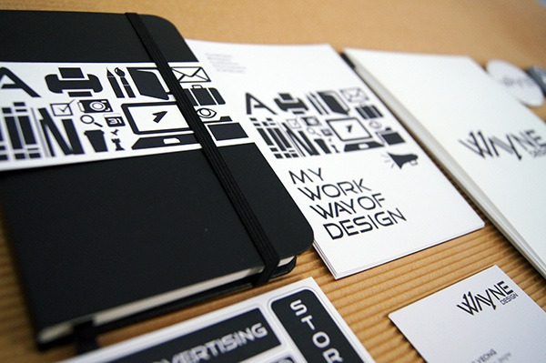 wayne design self promote materials on behance