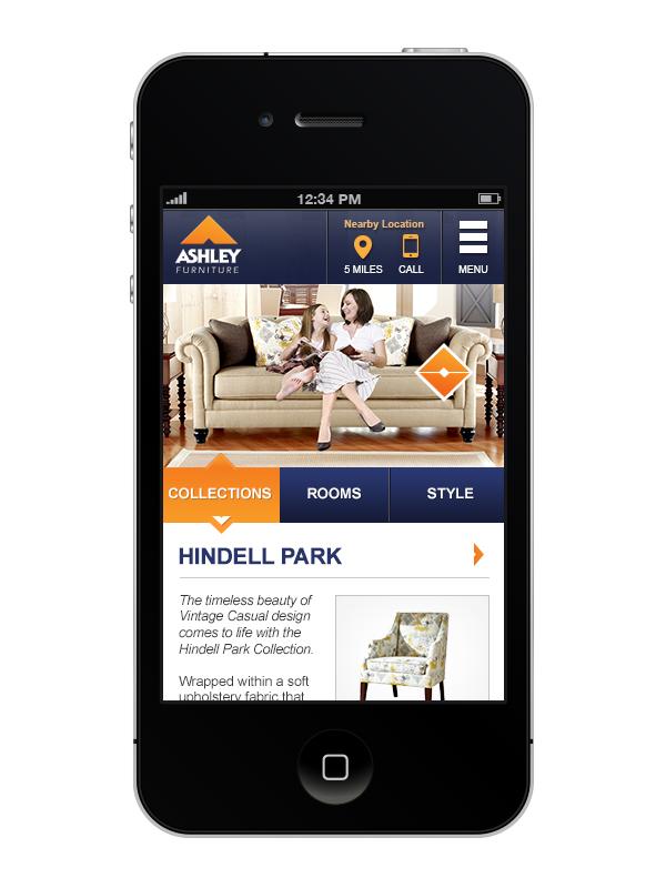 Ashley Furniture Responsive Website Design App Pitch On Behance